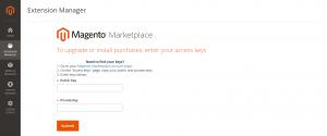 Magento 2 Admin Access Key Page